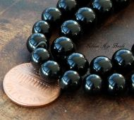 Black Agate Beads, 8mm Round