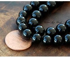 Black Agate Beads, 8mm Round