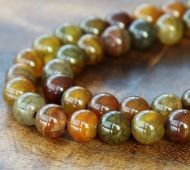 Fire Crackle Agate Beads, Earthy Mix, 10mm Round