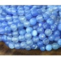 Agate Beads, Periwinkle, 6mm Faceted Round