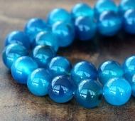 Agate Beads, Denim Blue, 10mm Round