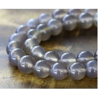 Agate Beads, Smoke Grey, 10mm Round