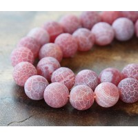 Frosted Agate Beads, Indian Red, 10mm Round
