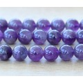 Amethyst Beads, Natural Medium Purple, 10mm Round