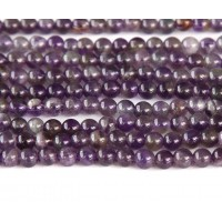 Amethyst Beads, Medium Purple, 3mm Round