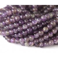 Amethyst Beads, Medium Purple, 4mm Round
