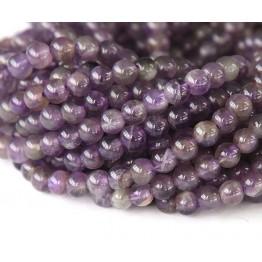 Amethyst Beads, Medium Purple, 6mm Round
