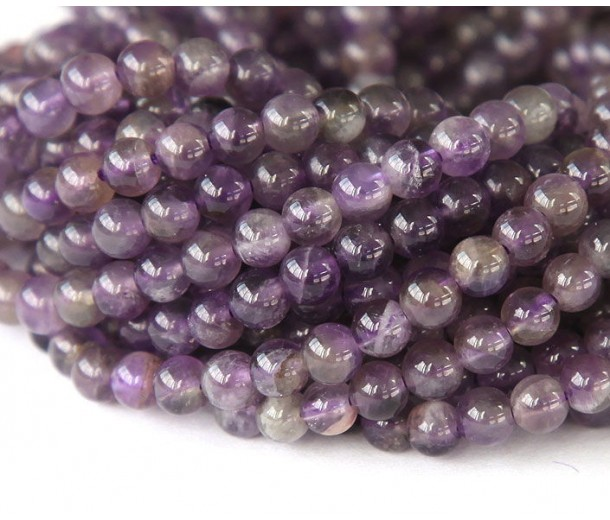 Amethyst Beads, Medium Purple, 6mm Round