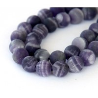 Matte Amethyst Beads, Medium Purple, 12mm Round