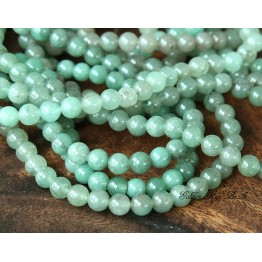 Green Aventurine Beads, 4mm Round