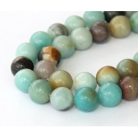 Amazonite Beads, Natural Multicolor, 10mm Round