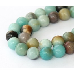 Amazonite Beads, Multicolor, 8mm Round
