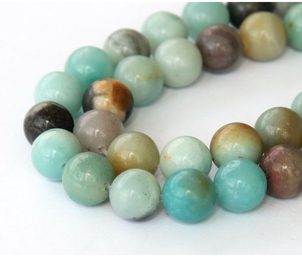 Amazonite Beads, Multicolor, 10mm Round