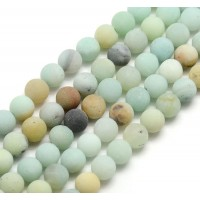 Matte Amazonite Beads, Multicolor, 6mm Round