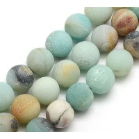 Matte Amazonite Beads, Multicolor, 10mm Round