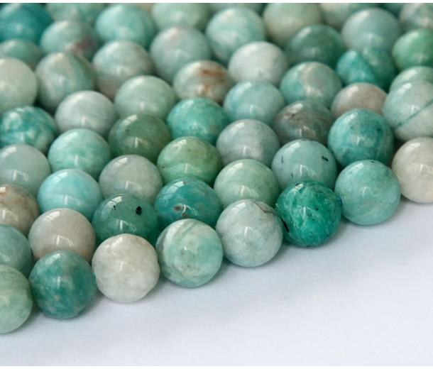 Russian Amazonite Beads, Green, 8mm Round
