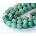 Russian Amazonite Beads, Green, 7.5mm Round