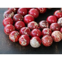 Impression Jasper Beads, Red, 10mm Round
