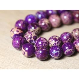 Impression Jasper Beads, Purple, 10mm Round
