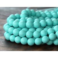 Imitation Turquoise Beads, Light Teal, 6mm Round