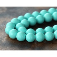 Imitation Turquoise Beads, Light Teal, 8mm Round