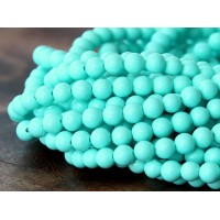 Imitation Turquoise Beads, Light Teal, 4mm Round