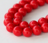 Imitation Turquoise Beads, Red, 8mm Round