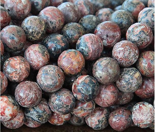 Leopard Skin Jasper Beads, 10mm Round