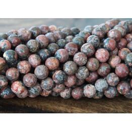 Leopard Skin Jasper Beads, 8mm Round