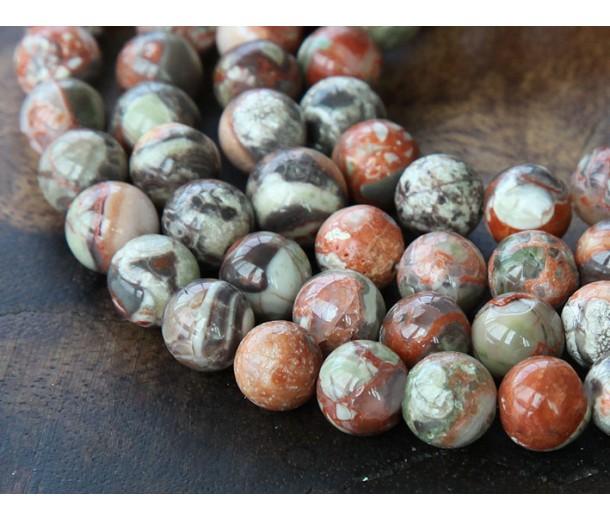 Ocean Jasper Beads, 8mm Round
