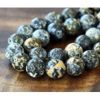 Ocean Jasper Beads With Druzy, 12mm Round