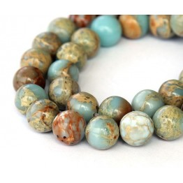 Snakeskin Jasper Beads, 10mm Round