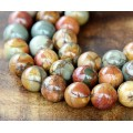 Red Creek Jasper Beads, 10mm Round