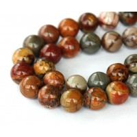 Red Creek Jasper Beads, 8mm Round