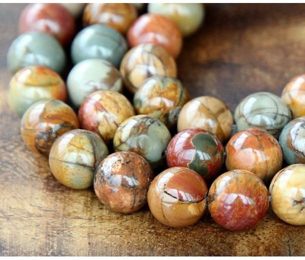 Red Creek Jasper Beads, 8mm Round