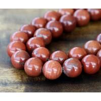 Red Jasper Beads, 12mm Round