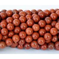 Red Jasper Beads, 8mm Round