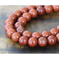 Red Jasper Beads, 10mm Round