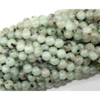 Sesame Jasper Beads, Light Teal, 6mm Round
