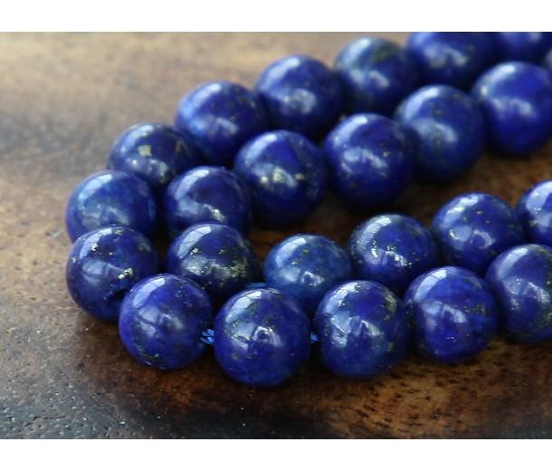 Lapis Lazuli Beads, 6mm Round, 15 Inch Strand