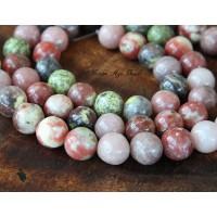 Pink Lepidolite Beads, 10mm Round