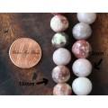 Pink Lepidolite Beads, 8mm Round, 15 Inch Strand