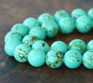Magnesite Beads, Light Teal Green, 10mm Round