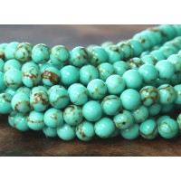 Magnesite Beads, Light Teal Green, 4mm Round