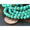Magnesite Beads, Light Teal Green, 4mm Round, 15 Inch Strand
