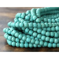 Magnesite Beads, Light Teal, 4mm Round