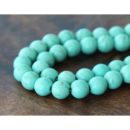 Magnesite Beads, Light Teal, 10mm Round
