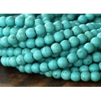 Magnesite Beads, Light Teal, 6mm Round