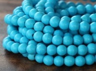 Howlite Beads, Blue, 6mm Round