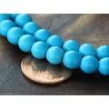 Howlite Beads, Blue, 6mm Round
